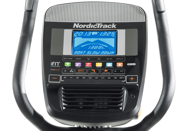 nordictrack 2.7 upright bike console