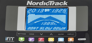 nordictrack 2.7 console up close