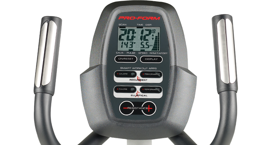 proform elliptical bike console