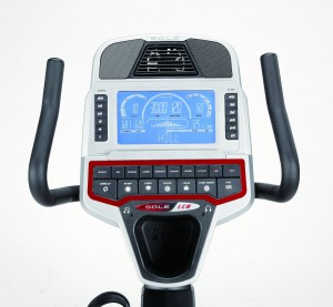 sole exercise bike console